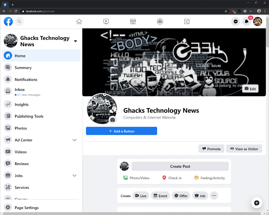 facebook nieuwe layout