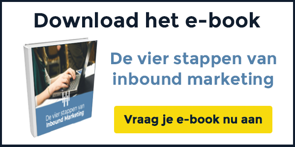 "Download het e-book ""De vier stappen van inbound marketing"""
