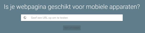 test mobielvriendelijkheid